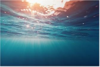 Poster Mer bleu