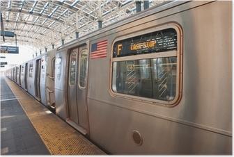 Poster Metro aan het einde van de run in Coney Island, NY