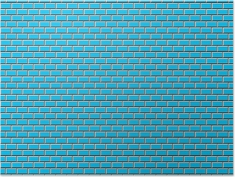 Poster Métro Carrelage Bleu