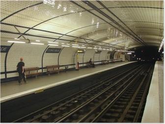 Poster Metrostation (concorde, parijs)