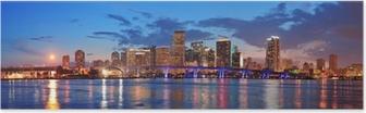Miami night scene Poster