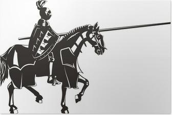 Poster Middeleeuwse ridder
