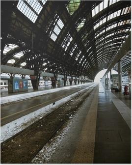 Poster Milan station architectuur