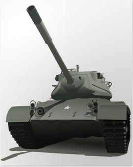 Poster Militärtank
