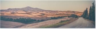 Poster Millésime paysage toscan