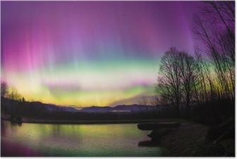 Poster Mindre vanliga Aurora Borealis i Vermont.