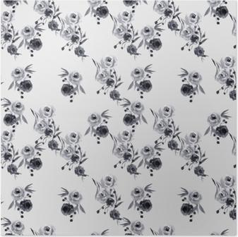 Minimalist floral pattern - Nina Ho Poster
