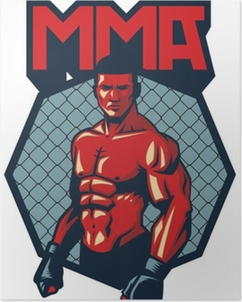 Poster MMA vechter stand