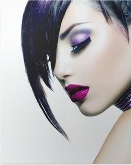 Poster Mode Beauty Girl. Schitterende Vrouw Portret