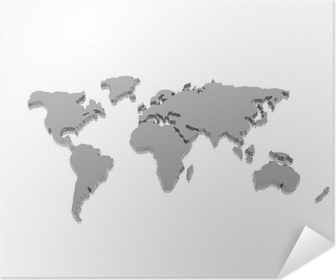 Metallic world map poster pixers we live to change model of the geographical world map poster gumiabroncs Image collections