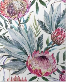 Poster Modèle de protea tropical
