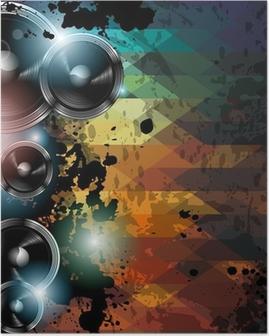 Poster Modèle Disco club de fidélisation. Résumé de fond à utiliser pour la musique