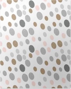 Poster Modèle géométrique sans soudure abstraite de vecteur moderne avec des cercles dans le style scandinave rétro