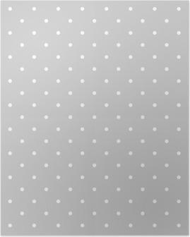 Poster Modèle vectoriel blanc et gris ou Seamless fond de carreaux à pois