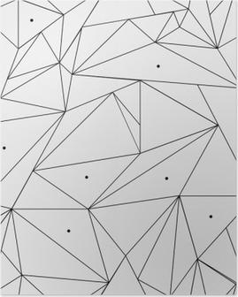 Póster Modelo geométrico blanco y negro simple minimalista, triángulos o vidriera. Se puede utilizar como fondo de pantalla, fondo o la textura.