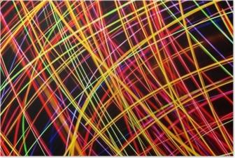 Poster Modern konst. lång exponering neonljus konsistens.