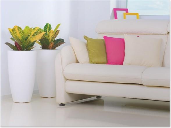 Poster Moderne interieur woonkamer • Pixers® - We leven om te veranderen
