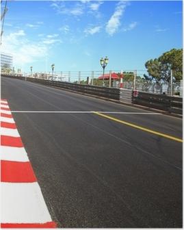 Monaco, Monte Carlo. Race asphalt, Grand Prix circuit Poster