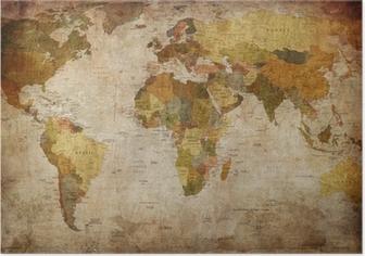 Poster Monde de carte