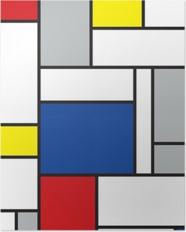 Poster Mondriaan geïnspireerde kunst
