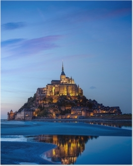 Poster Mont Saint Michel, France
