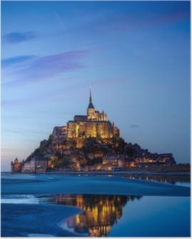 Poster Mont Saint Michel, Frankrijk
