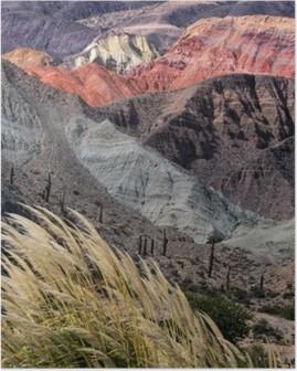 Montañas en Salta, Argentina Poster