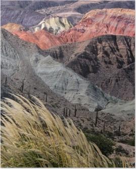 Poster Montañas en Salta, Argentinië