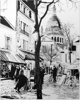 Montmartre in winter Poster