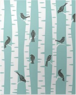 Poster Motif arbres