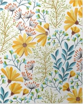 Poster Motif floral de printemps
