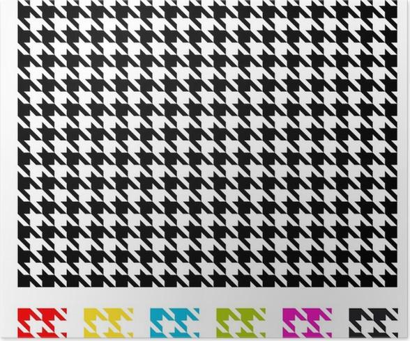 Poster motif pied de poule 02 pixers nous vivons pour changer - Motif pied de poule ...