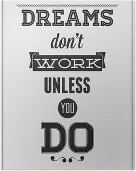 Poster Motivational affisch