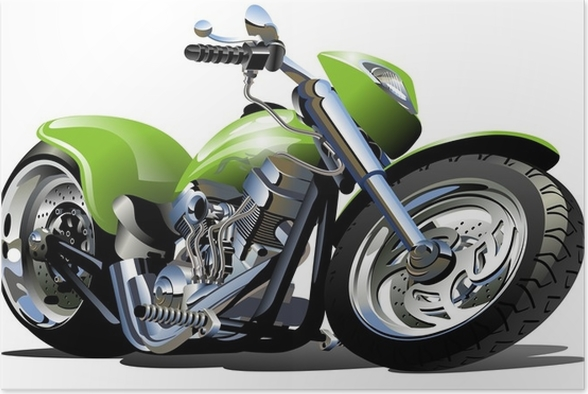 Dessin animé moto