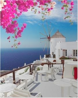 Poster Moulin à vent d'Oia, Santorin