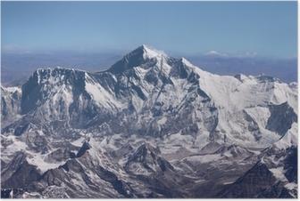 Poster Mount Everest - Top of the World (van vliegtuigen)