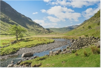 Mountain stream in the Lake District Poster
