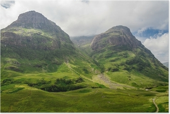 Mountain view in Scotland in the Glencoe Poster