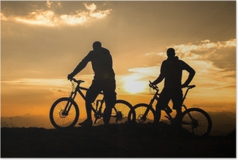 Poster Mountainbike - Biken in den Bergen