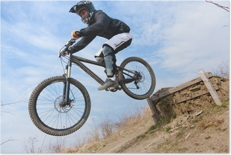 Poster Mountainbike jump