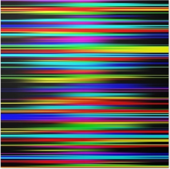 Poster Multicolore abstrait vibrant diplômé motifs à rayures.