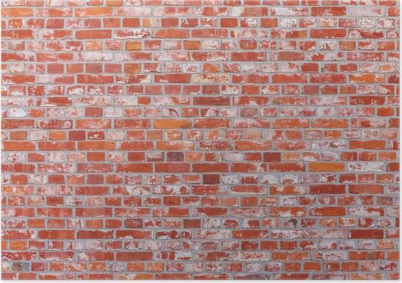 Poster Mur De Briques De Couleur Rouge Pixers Nous Vivons Pour