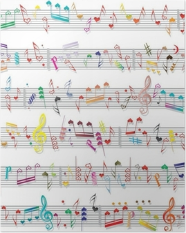 Music note sound texture Poster
