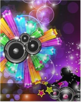 Poster Musique Disco Flyer pour des soirées dansantes
