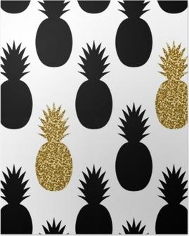 Poster Naadloos Ananas Patroon