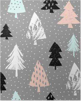Poster Naadloze Kerst patroon