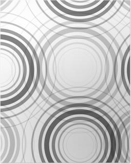 Poster Naadloze monochroom cirkels patroon