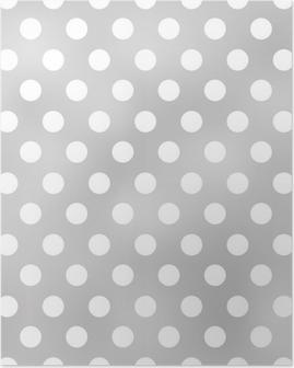 Poster Naadloze stippen grijs patroon