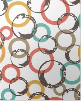 Poster Naadloze vector patroon met kleurrijke cirkels.