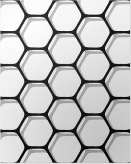 Poster Naadloze zeshoeken patroon.